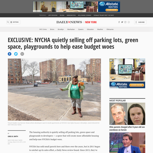 EXCLUSIVE: NYCHA selling off green space to developers