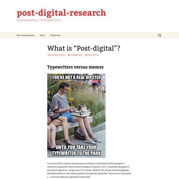 "What is ""Post-digital""?"