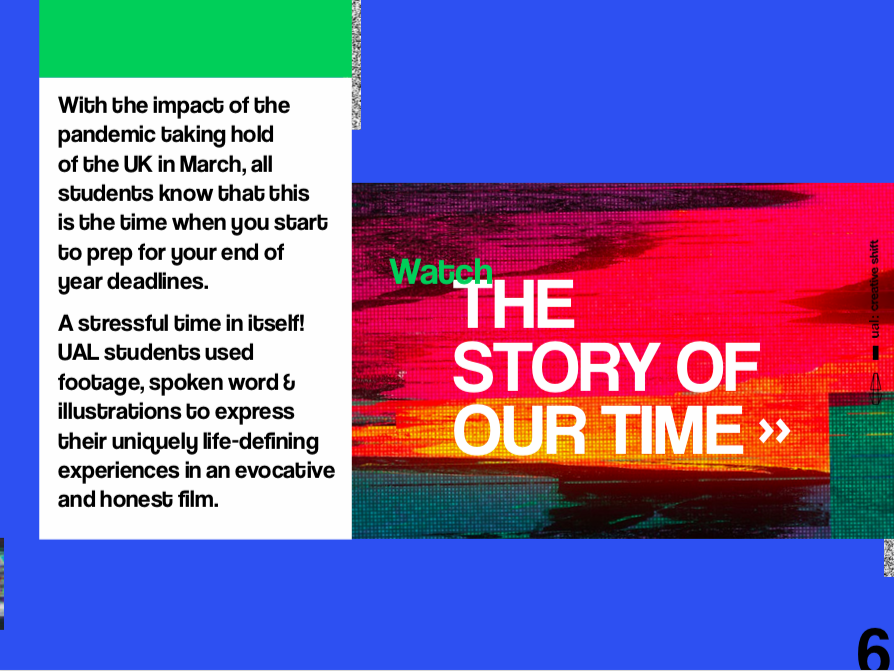 The Story of Our Time made by @UAL & @ElephantRoomUK