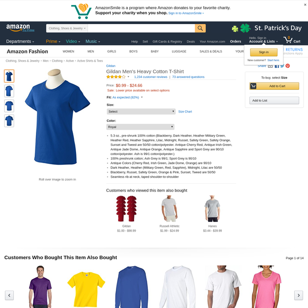 Buy Gildan Men's Heavy Cotton T-Shirt and other T-Shirts at Amazon.com. Our wide selection is elegible for free shipping and free returns.