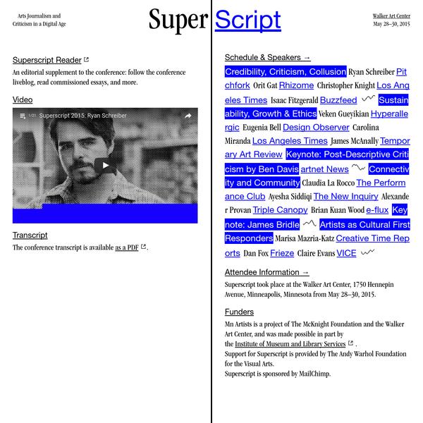 Superscript 2015