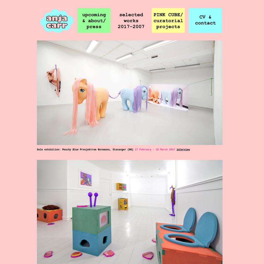 Visual Artist Anja Carr Official Website