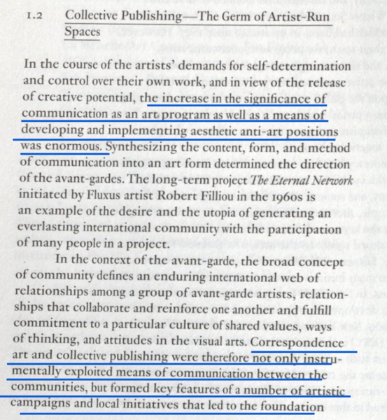 "Gabrielle Detterer, ""The Spirit and Culture of Artist-Run Spaces"""