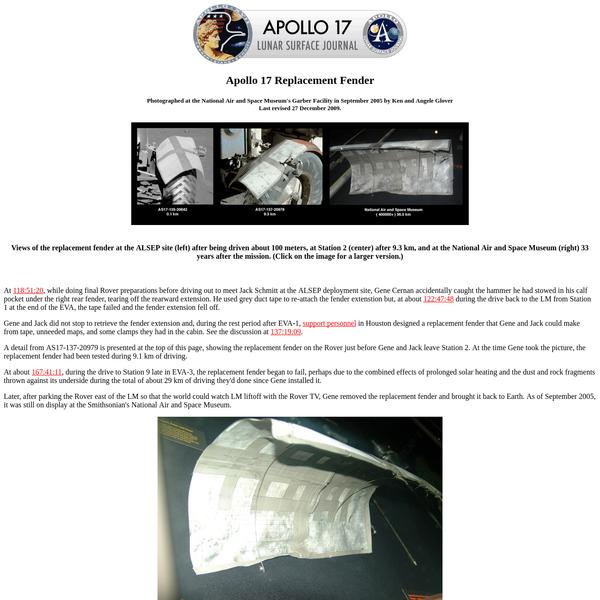 Apollo 17 Replacement Fender