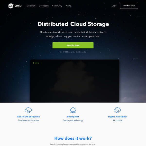Distributed, encrypted, and blazing fast object storage, where only you have access to your data.