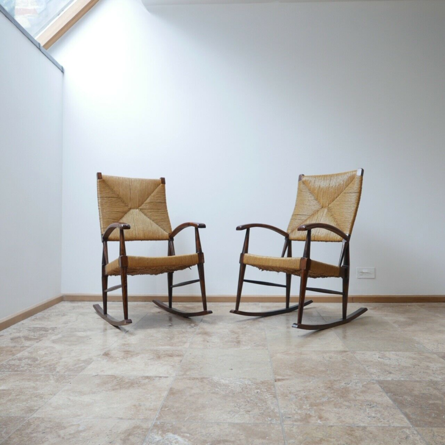 French 1970s Rocking Chairs