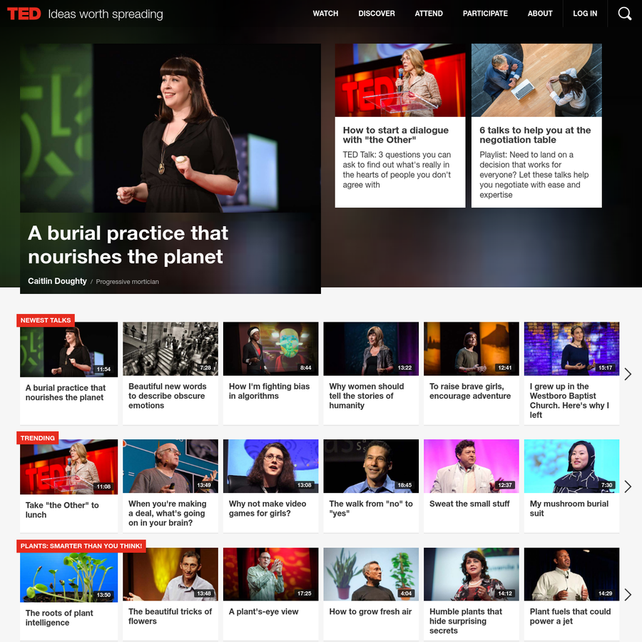 TED.com, home of TED Talks, is a global initiative about ideas worth spreading via TEDx, the TED Prize, TED Books, TED Conferences, TED-Ed and more.
