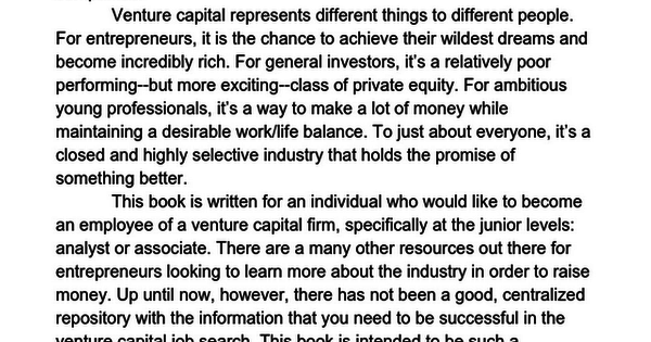 How To Break Into Venture Capital