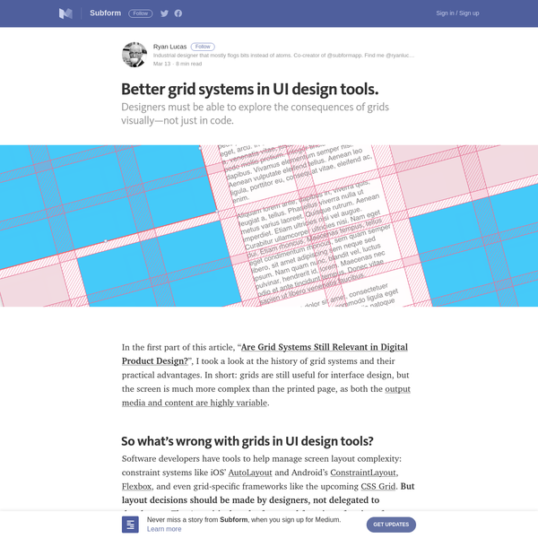 "Designers must be able to explore the consequences of grids visually-not just in code. In the first part of this article, ""Are Grid Systems Still Relevant in Digital Product Design? "", I took a look at the history of grid systems and their practical advantages."
