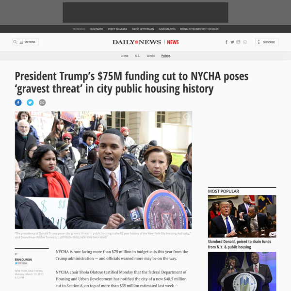 Trump's $75M funding cut poses 'grave' threat to NYCHA