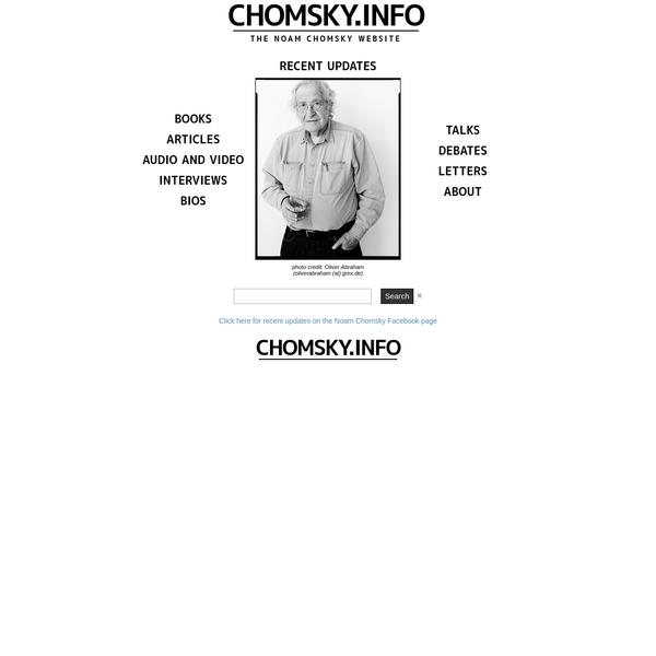The Noam Chomsky Website.