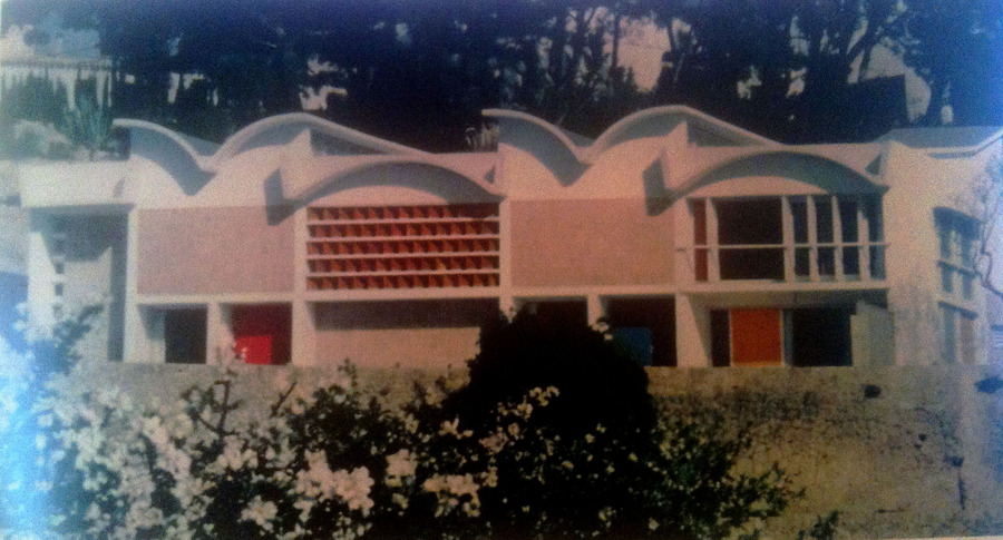 'A dream studio for creating a dream world: in this building at Palma on the island of Majorca, recently designed for him by Jose Luis Sert, Miro does most of his work.'  Excerpt from Horizon Magazine March 1959