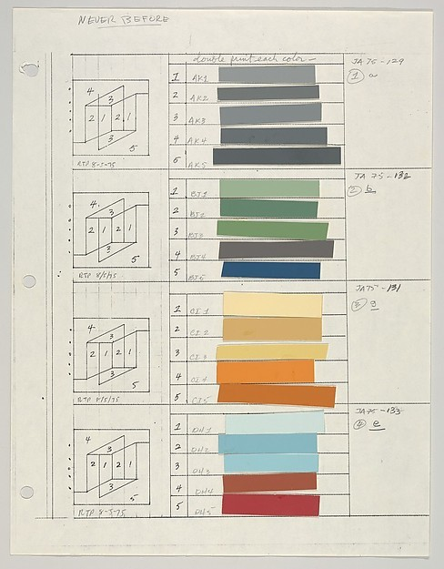 Untitled (for Never Before, a,b,g,e) Josef Albers