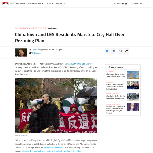 Chinatown and LES Residents March to City Hall Over Rezoning Plan