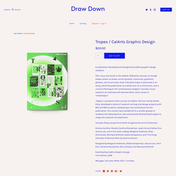 Tropes / CalArts Graphic Design - Draw Down