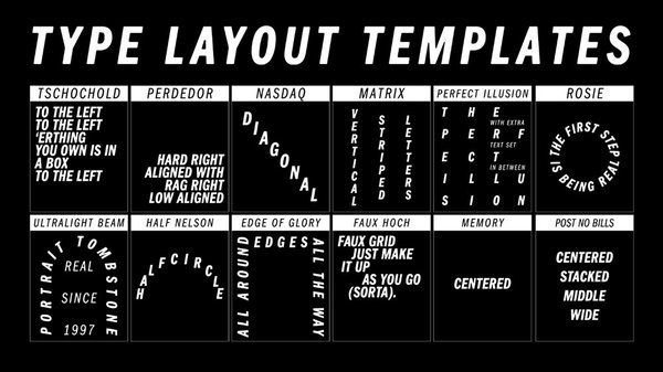 Type Layout Templates