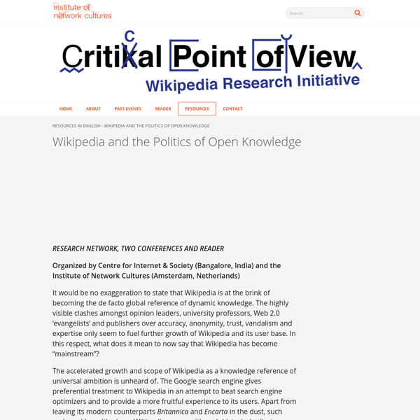 Wikipedia and the Politics of Open Knowledge