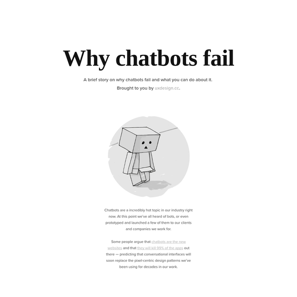 Why do chatbots fail?