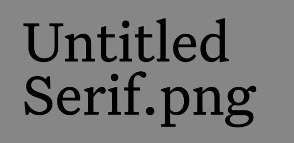 Klim Untitled Serif