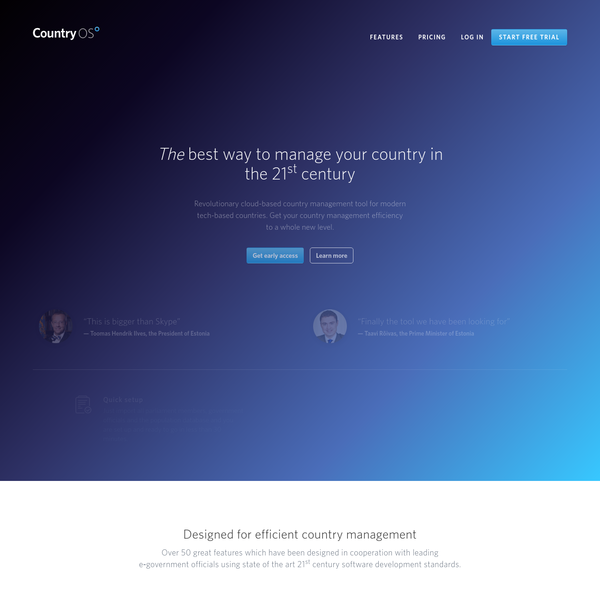 CountryOS - The best way to manage your country in the 21st century