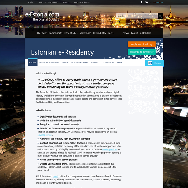 About - e-Estonia