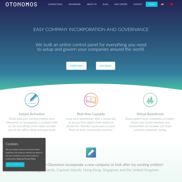 Easily load your existing entities onto Otonomos or incorporate a company with us. Do everything online whist we take care of the offline filing and paperwork. Issue each shareholder with a secure key to access their digital share wallet on blockchain. Transfer equity peer-to-peer. Track all share movements real time.
