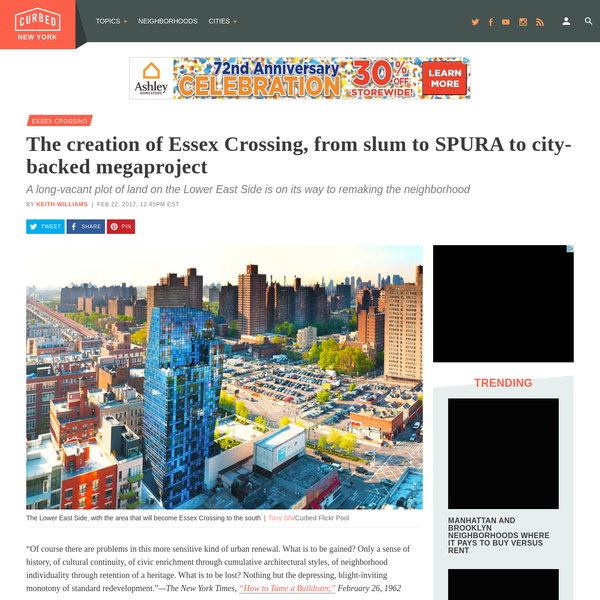 The creation of Essex Crossing, from slum to SPURA to city-backed megaproject