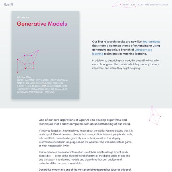 Generative Models