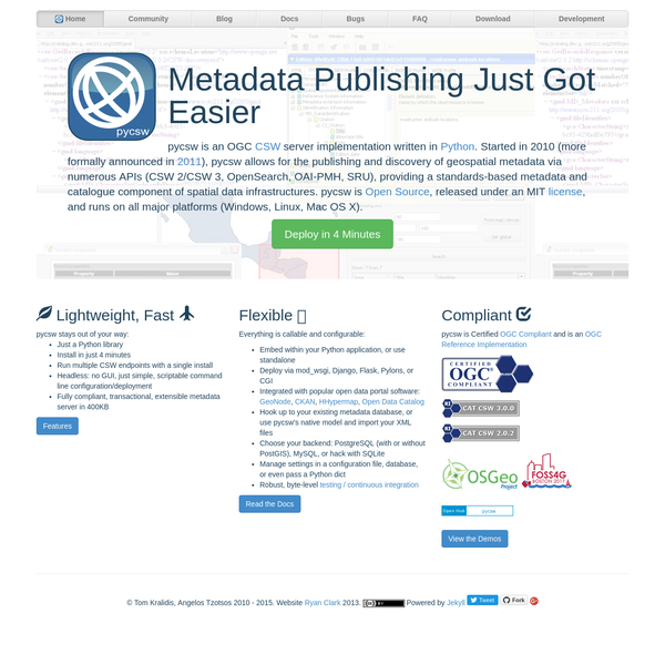 pycsw * Metadata Publishing Just Got Easier