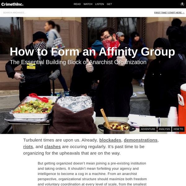 How to Form an Affinity Group
