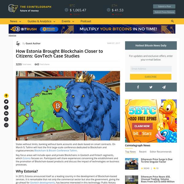 How Estonia Brought Blockchain Closer to Citizens: GovTech Case Studies