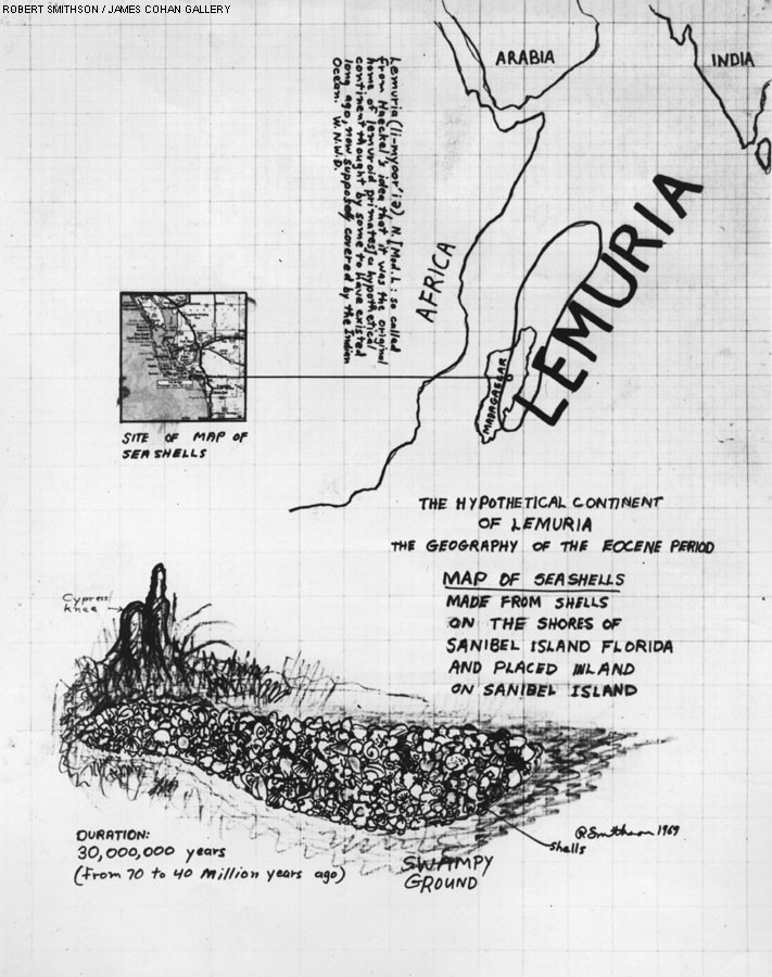 Robert Smithson - The Hypothetical Continent of Lemuria (1969)