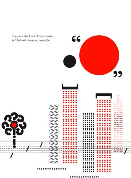 Rathna Ramanathan, In the Land of Punctuation illustration (2014)