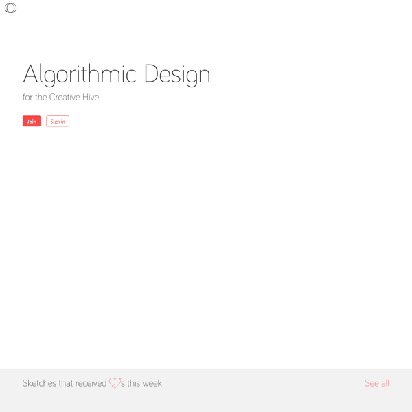 OpenProcessing - Algorithmic Designs Created with Processing, p5js and processingjs.