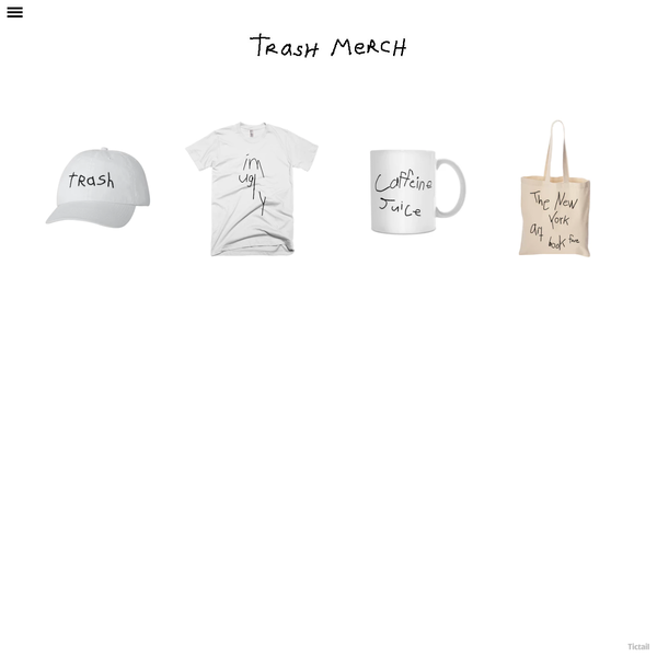 Browse products sold by trash merch in our Tictail shop. Tictail lets you create a beautiful online store for free - tictail.com
