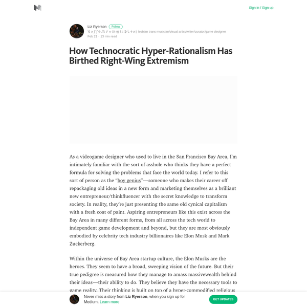 How Technocratic Hyper-Rationalism Has Birthed Right-Wing Extremism