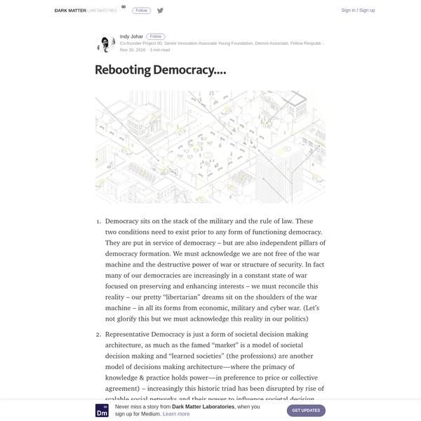 Rebooting Democracy....