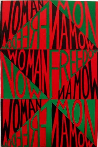 _FREEDOM WOMAN NOW_, 1971 http://ringgoldinthe1960s.blogspot.com/2010/05/blog-post.html
