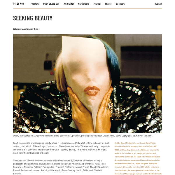 Seeking Beauty