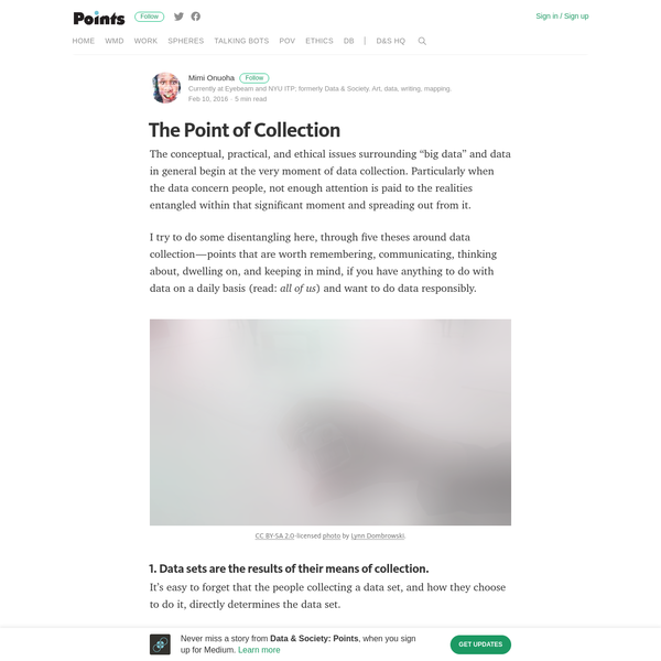 The Point of Collection