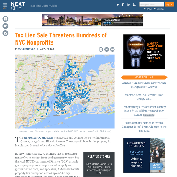 Are.na / Tax Lien Sale Threatens Hundreds of NYC Nonprofits on