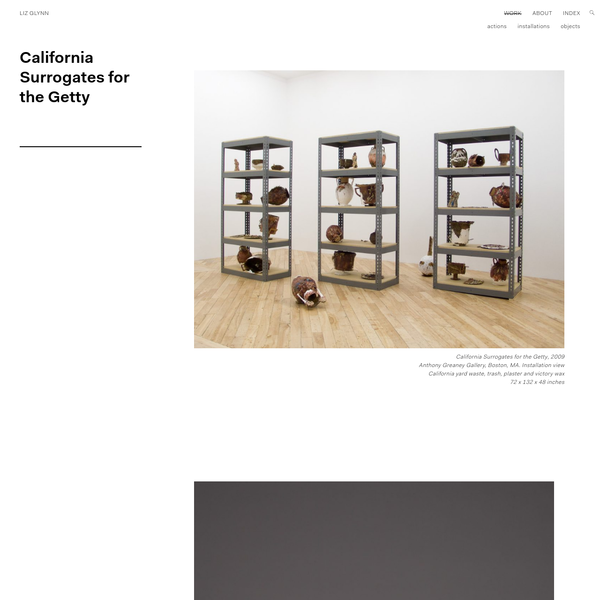 California Surrogates for the Getty - Liz Glynn