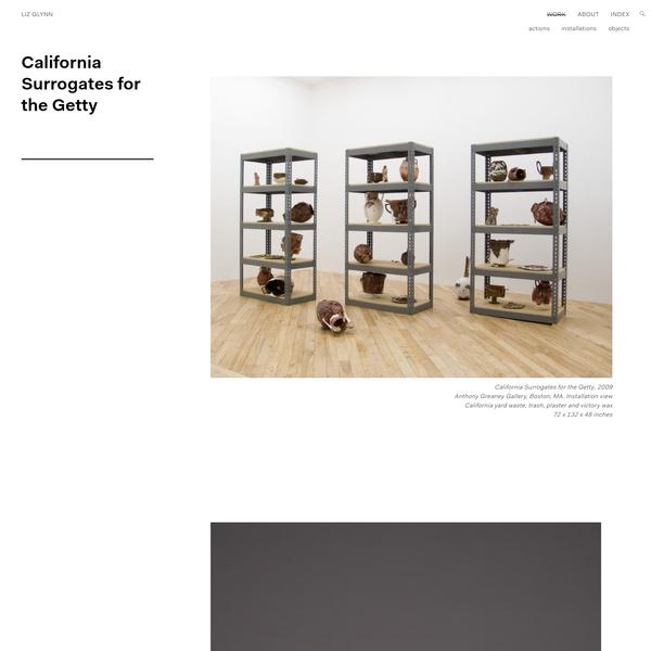 California Surrogates for the Getty - Liz Glynn