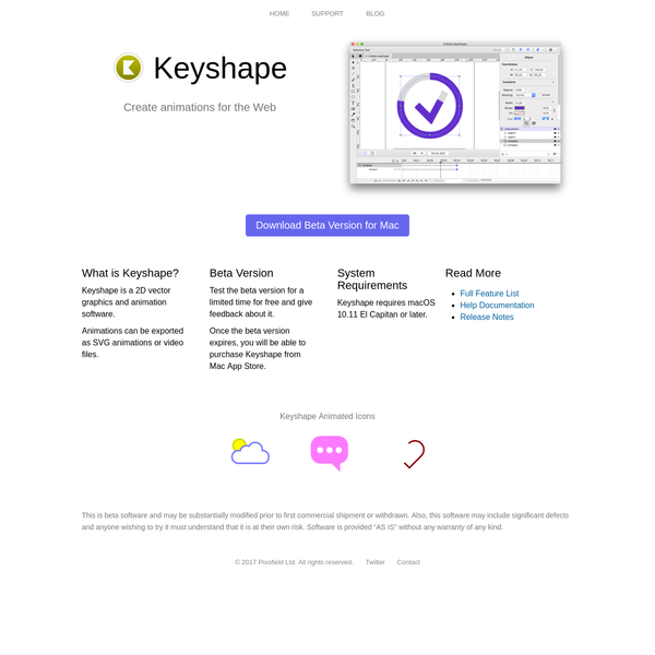 Keyshape - Create animations for the web