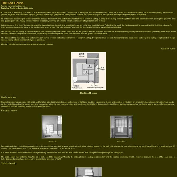 The Tea House (Teakult, a Terebess Online különlapja)