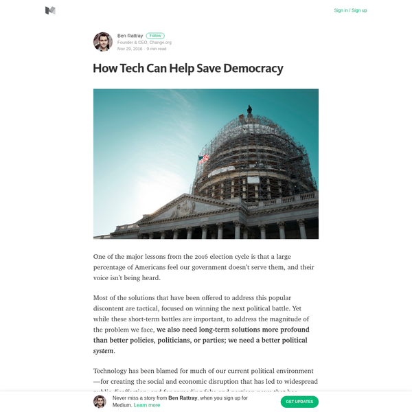 How Tech Can Help Save Democracy