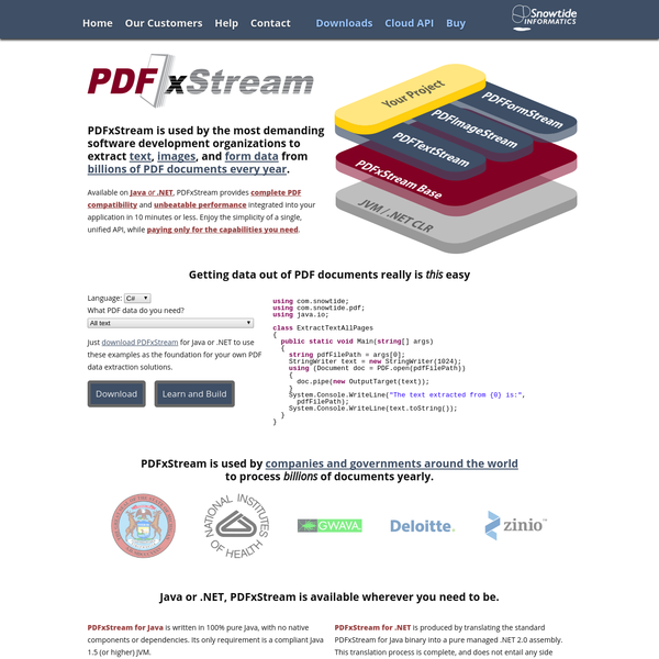 Are na / PDFxStream - PDF Text, Image, and Form Extraction for Java