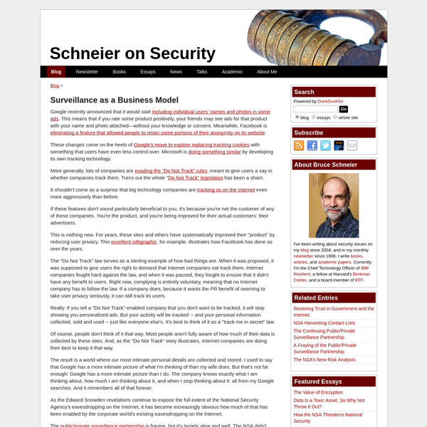 Surveillance as a Business Model