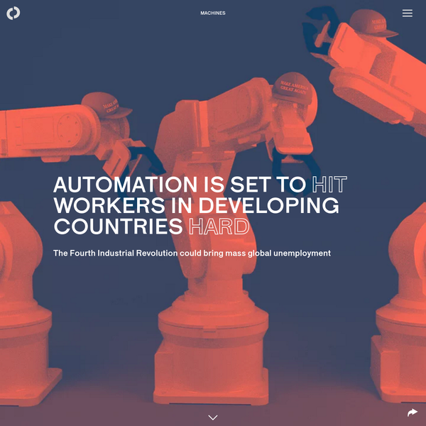 Automation is set to hit workers in developing countries hard