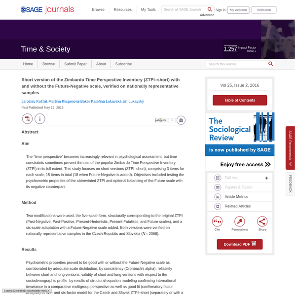 SAGE Journals: Your gateway to world-class journal research